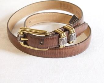 Vintage Women's belt - brown Brighton Classics Leather Belt size medium
