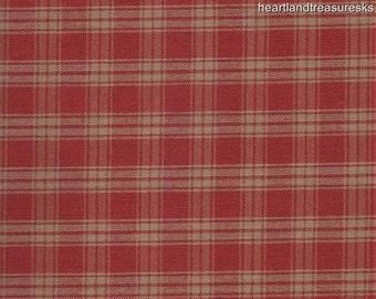 Dunroven House H 31 Homespun Red U0026 Wheat Large Plaid Fabric 1/2 Yard Cut  Off The Bolt