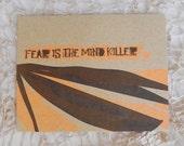 Single Letterpress Postcard Dune