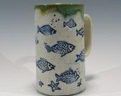 Fish Coffee Mug Handbuilt Stoneware Mug Ceramic Coffee Mugs Pottery Coffee Mug