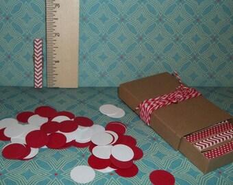 Tiny Clothespins--100 piece confetti--Chevron and Polka dots