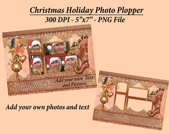 Holiday Photo Card Ploppers