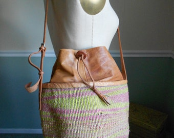 Straw Bag / Woven Purse / Market Tote / Beach Bag