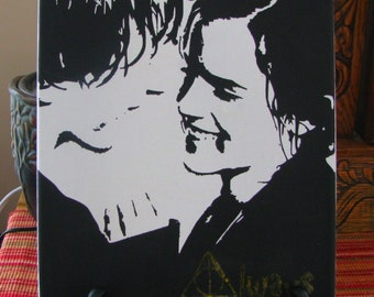 Ron Weasley and Hermione Granger - Always Harry Potter Handpainted Canvas - 8 x 10