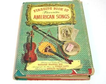 Fireside Book Of Favorite American Songs Selected By Margaret Bradford Boni, Vintage Music Book