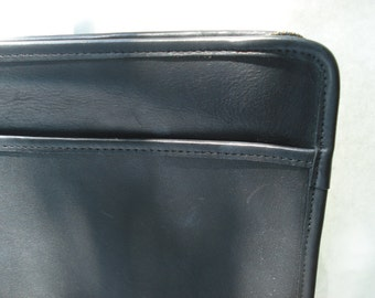 Vintage COACH Portfolio Handbag Black Career Work Laptop Case