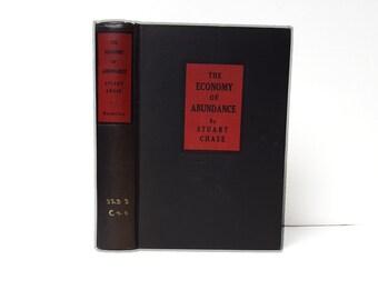 Hollow Book Safe The Economy of Abundance Cloth Bound vintage Secret Compartment Security hiding place