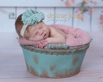 Baby Headband,Baby flower headband,Newborn Headband,Baby girl headband,Baby photo prop, Photo prop,Infant prop,Sidney Headband