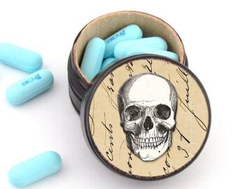Skull Pill Box - Skull Non Toxic Vitamin Box - Skull Wedding Ring Box - Skull Plugs Box