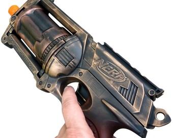 Steampunk MAVERICK toy Gun  Zombie walking man Nerf soft dart Vampire Victorian cosplay Limited