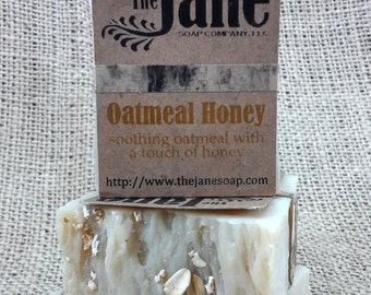 Oatmeal Honey Soap - Old Fashioned Handmade Soap - Lye Soap - Fragrance Free
