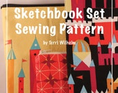 Sketchbook Set Sewing Pattern: Moleskin Cover, Zipper Pouch and Case