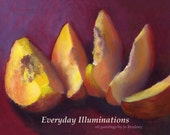 SALE Kitchen Wall Calendar 2016 - 12 juicy food art prints from original still life oil paintings