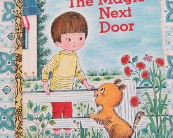 Vintage Little Golden book The Magic Next Door SWEET