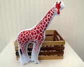 Giraffe Pillow Plush Soft Toy Safari Nursery Decor