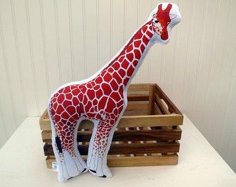 Giraffe Pillow Plush Soft Toy Safari Nursery Decor Ready to Ship