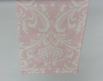 Pink Table Runner Floral Centerpiece Wedding Decor Damask Light Pink Table  Runner Linens Table Decoration