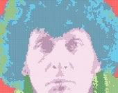 The Fourth Doctor Cross Stitch Pattern PDF