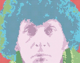 The Fourth Doctor Cross Stitch Pattern PDF