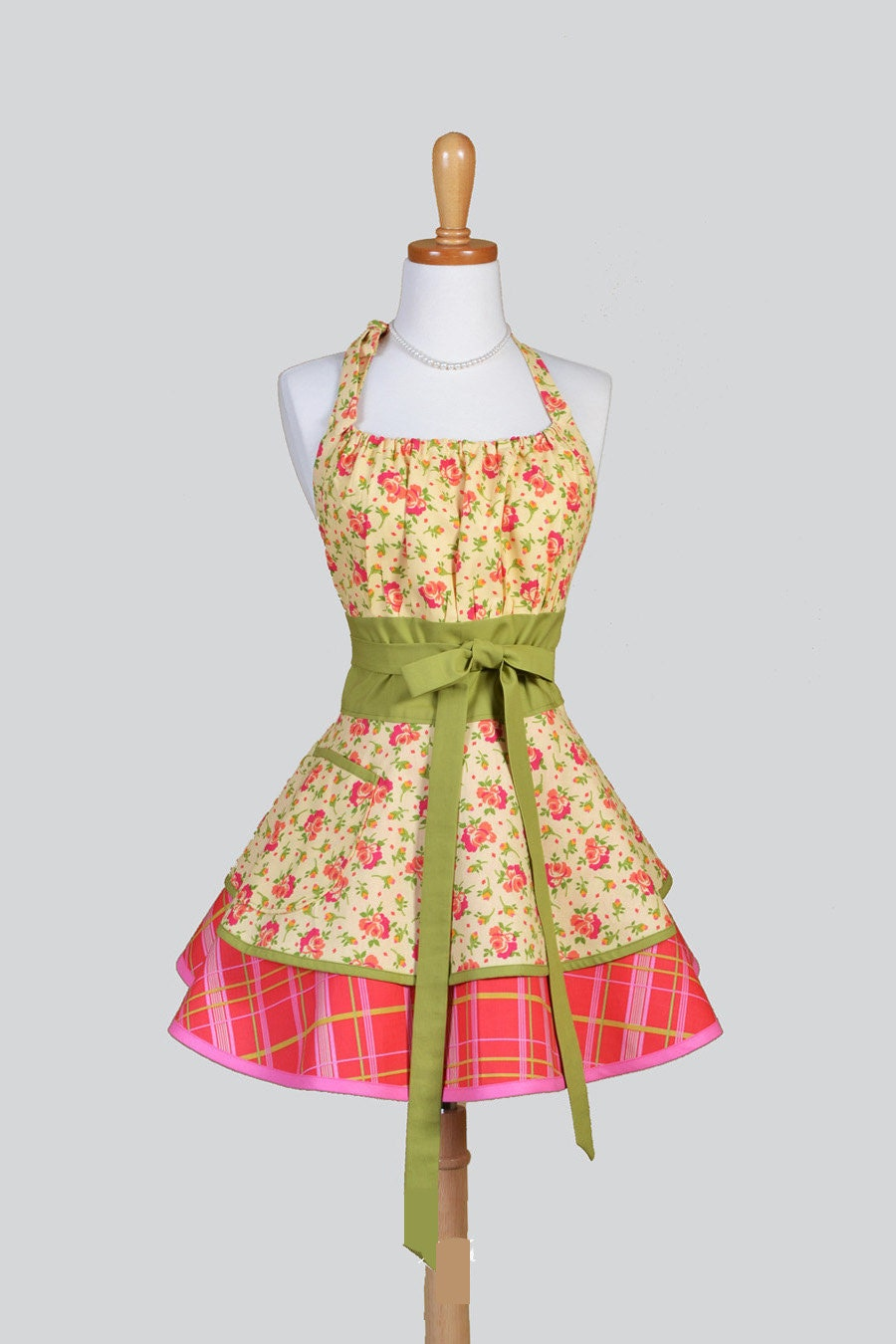 Flirty Chic Womens Aprons Full Retro Kitchen Cooking Apron