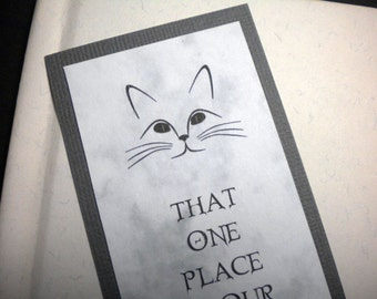 Cat Love, Sympathy Bookmark ~ IN OUR HEARTS quote