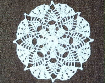 D-66. Crochet Doily Christmas Wedding Valentine's Day Tool New Year White Doily Circular Drink Coasters Hand crocheted Lace  Round Doily