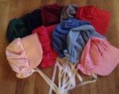 Colonial Bonnet Womens or Girls Hat Bonnet Color Choices