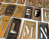 Vintage REESES Adjustable Brass Stencils Set of 125