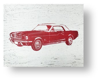 The Iconic Ford Mustang 13 x 10 Rustic Sign