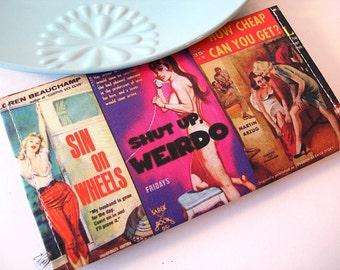 Pulp Fiction Book Covers Checkbook Cover