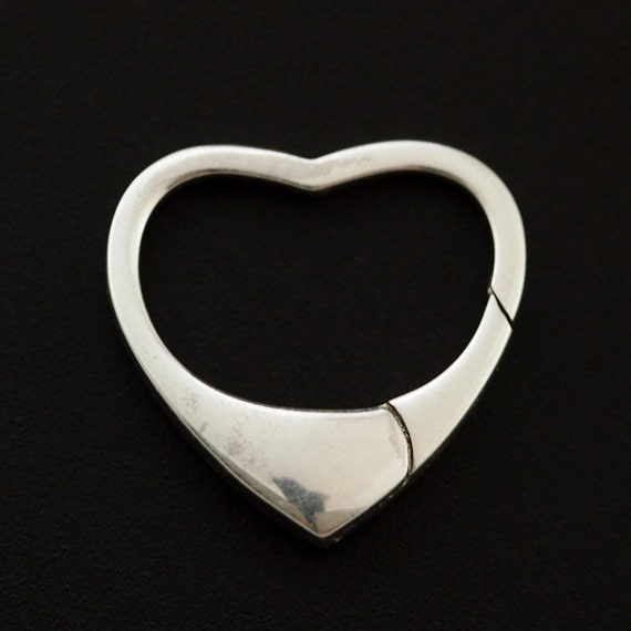 1 Sterling Silver Heart Lobster Clasp Triggerless 18mm