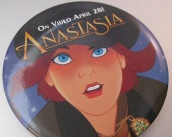 HALLOWEEN SALE ANASTASIA Movie Promo Pin Button On Video April 28 Vintage