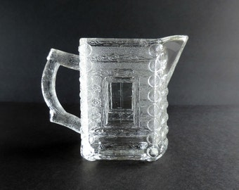 Vintage Heisey Syrup Pitcher W Metal Lid By Thelogchateau