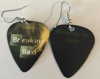 Breaking Bad guitar pick earrings, Breaking Bad, Earrings, Guitar picks, Walter White, accessories