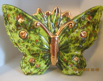 Hawaiian Vintage  Butterfly Vase - by Marianne of Maui