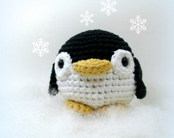Amigurumi Penguin, Crochet Penguin Toy, Stuffed Animal, Cute Penguin Soft Toy, Plushie Penguin Gift for Kids, Penguin Plush Preschool Toy