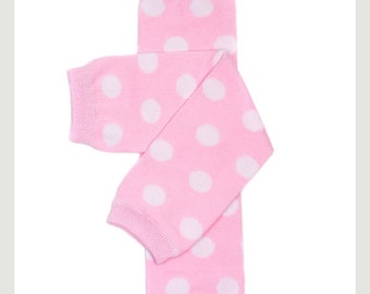 Candy pink and white dots leg warmers