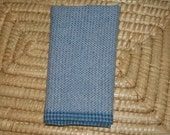 Woven Hand Towel in Grey - Gray Handwoven Towel - Foggy Morning Kitchen Towel