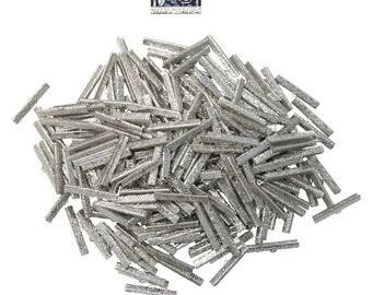 500pcs.  38mm  ( 1 1/2 inch )  Platinum Silver Ribbon Clamps - Artisan Series