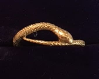 Exotic Serpent - Snake Gold Ring