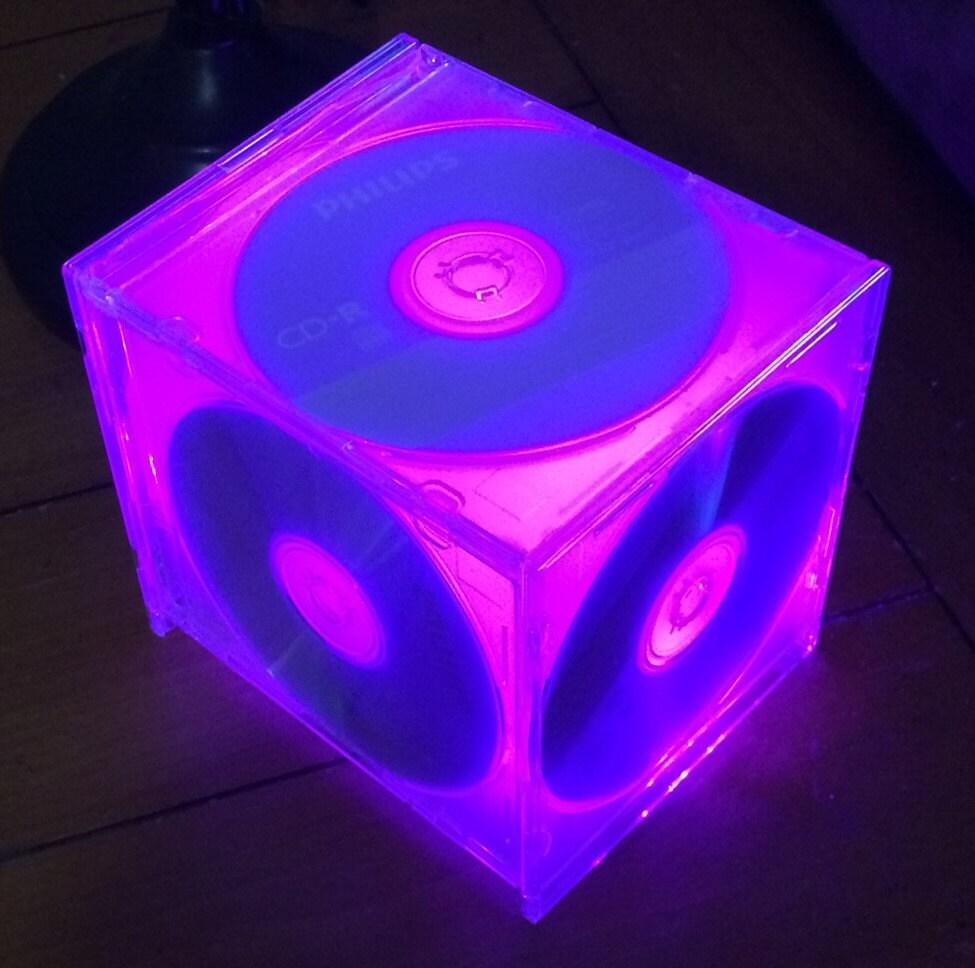 CD case centerpiece CD centerpiece lamp or nightlight.