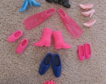 9 pairs of Barbie Shoes