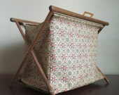 Vintage Henry Seligman of NYC Crochet / Knitting Tote