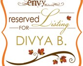 Custom Come For The Love Branches and Leaves Booklet Wedding Invitation Sets... Reserved for Divya B.