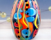 Boh*Hippie - Modern Art Glass - 1 free shaped focal bead by Michou