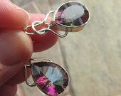 Sale, Modern Style Beautiful Mystic Topaz Earrings, 925 Silver,Gift for Her