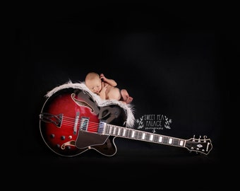 Instant Download Photography Prop DIGITAL BACKDROP for Photographers  - Rock & Roll Guitar- Digital Background