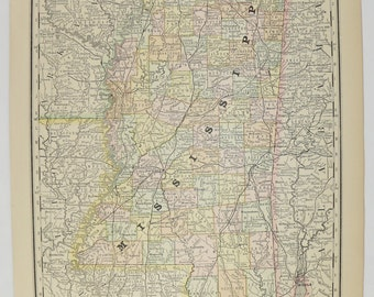 Large Map Of Georgia Antique Georgia Map Southern State - Map of southern us