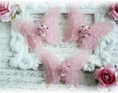 Shabby Vellum Butterfly Embellishments for Scrapbooking, Cardmaking, Altered Art, Tag Art, Mini Album, Pink