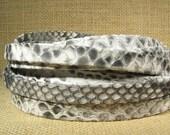 25% OFF 10mm Genuine Python Skin - White - Grey - Black